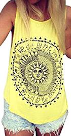 Blusa sin mangas con dibujo de sol