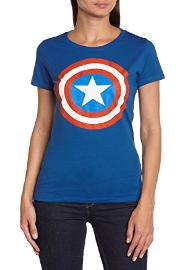 Camiseta de capitán américa de verano para mujer
