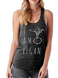 """Camiseta veraniega """"I am vegan"""" de deporte"""