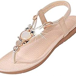 Sandalias de dedo diamantes