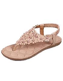 Sandalias de verano bohemia con flores