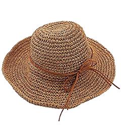 Sombrero de paja para el sol de playa
