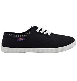 Zapatilla deportiva lona negra