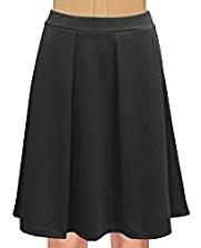 Falda clásica elástica