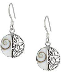 Pendientes de plata de ley diseño ojo de shiva