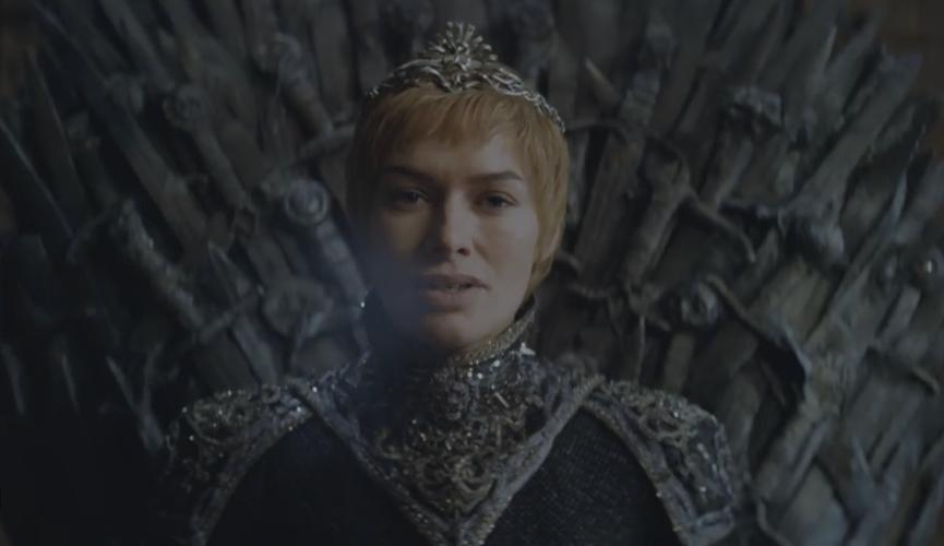 Cersei Lannister, reina de todos los Badassery trono de hierro,helada bocanada de aire Desembarco del rey Juego de tronos