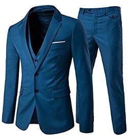 Traje de 3 piezas con chaqueta, chaleco y pantalones