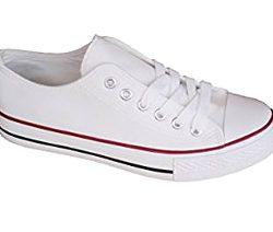 Zapatillas blancas de lona casual